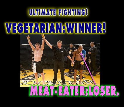 Creative Commons - Flickr user - vegetarians-dominate-meat-eaters-01